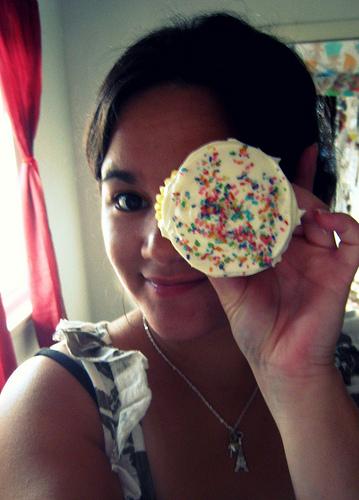a cupcake eye