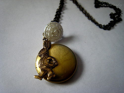 Rabbit Locket Necklace