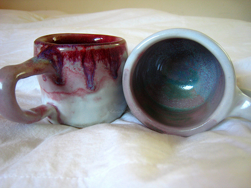 handmade porcelain mugs by me :)