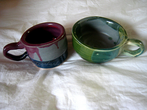 my finished mugs!