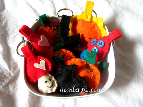 new felt keychains & such at my etsy